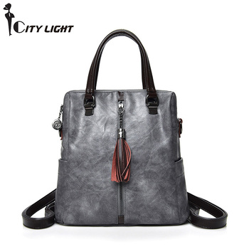 Multifunctional Women's Handbags  Shoulder Messenger Bags Women Bags Lady Girls Casual Tote Bag Back pack Sac A Main