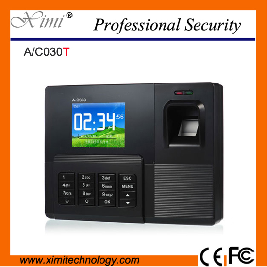 Free shipping RFID card reader and fingerprint recognition color screen biometric time attendance employee time recorder