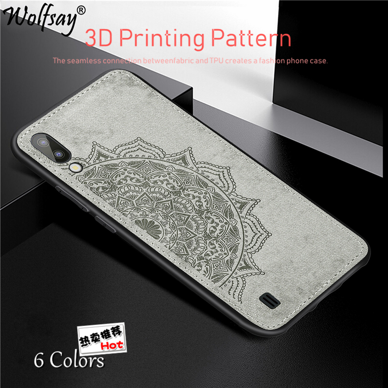 For Samsung Galaxy M10 Case 6.22 Fashion Cloth+PC Shell Fabric Silicone Bumper Case For Samsung Galaxy M10 Cover For Samsung M10
