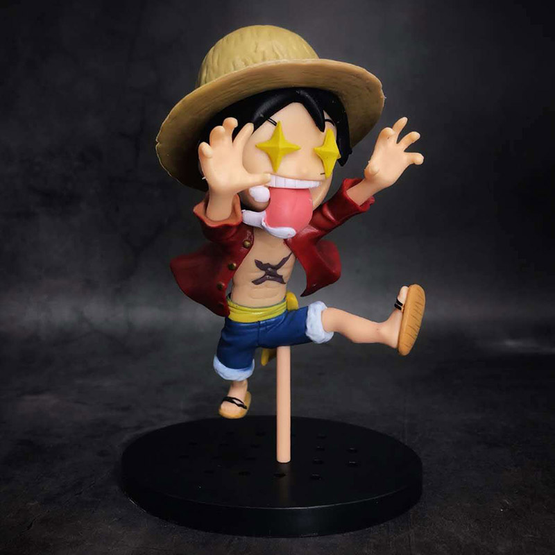 Monkey D Luffy Pvc Figure Toy Brinquedos Anime Aggressive One Piece Luffy Action Figure 1/8 Scale Painted Figure Star Eyes Scene Ver Action & Toy Figures