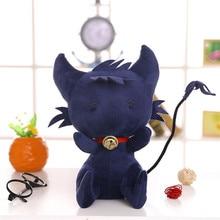 Anime Black Cat Plush Doll SERVAMP Cosplay Props SleepyAsh Shirota Mahiru 35cm Stuffed Baby Gift