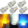 Newest 5 x Car G18 9SMD White/Yellow/Blue Led Turn Brake Taillights Lights Lamp Bulb