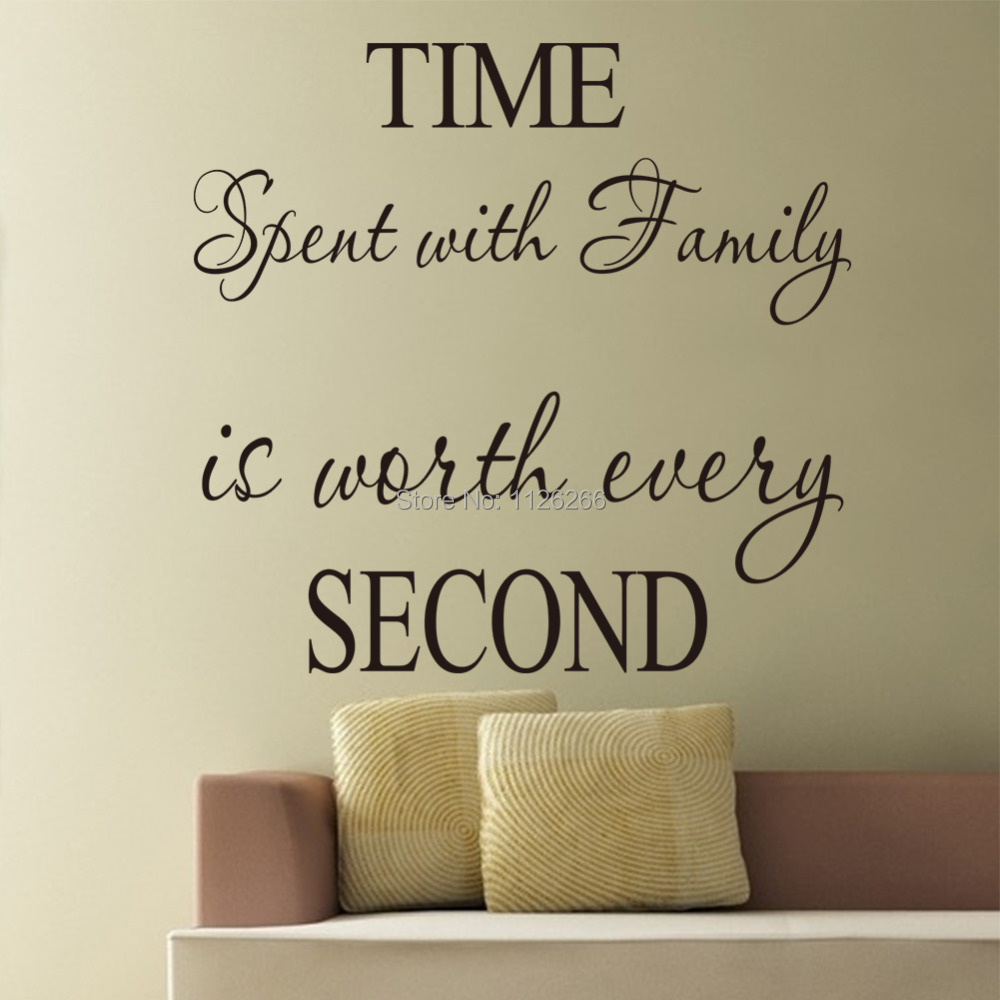 Removable Wall Stickers Quotes Time Spent With Family Is
