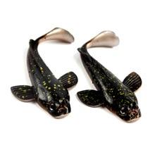 1PCS New Design Soft Black Spot Fishing Lure Simulation Artificial Bait 3D Eyes 12.5cm 17g Bass T-Tail Swimbait Tackle