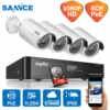SANNCE 4CH 1080 P HDMI P2P POE NVR Системы Видеонаблюдения Видео Выход 4 ШТ. 3000TVL 2.0MP Ip-камера Главная Безопасность ВИДЕОНАБЛЮДЕНИЯ Комплекты 1 ТБ HDD