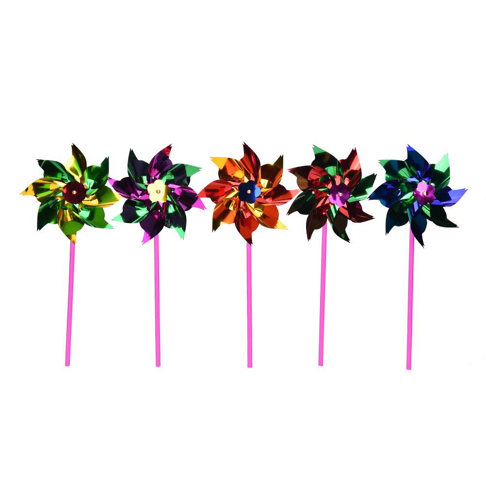 Toy Pinwheel Plastic Windmill Wind-Spinner Lawn Garden Baby Kids For Boys Girls 10pcs