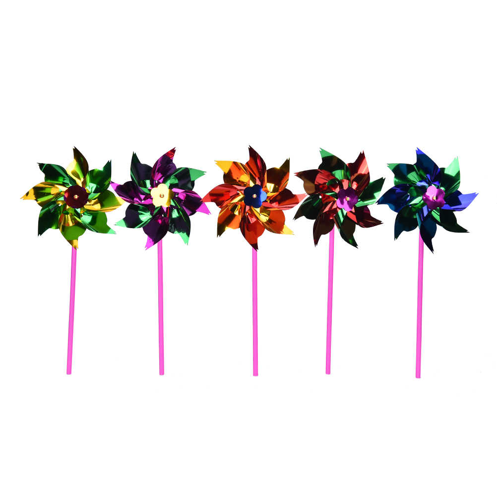 10Pcs Plastic Windmill Pinwheel Wind Spinner Kids Toy Garden Lawn Party Decor Toy Gift For Boys Girls Baby