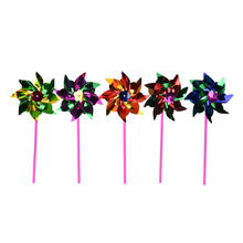 10Pcs Plastic Windmill Pinwheel Wind Spinner Kids Toy Garden Lawn Party Decor