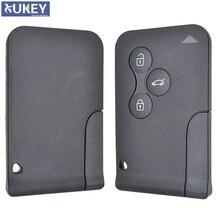 Car Remote Key Card Borsette Caso Fob Per Renault Megane Scenic 2 Clio 3 con Lama Uncut 3 Pulsante