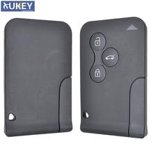 Coque pour carte télécommande à 3 boutons, avec lame non gravée, pour voiture Renault Megane, Scenic 2, Clio 3