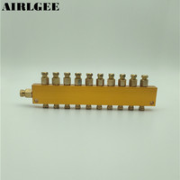 Pneumático de ar de Descarga de Óleo de Bronze Ajustável 10 Maneiras Distribuidor De Óleo Reguladora Manifold Frete grátis