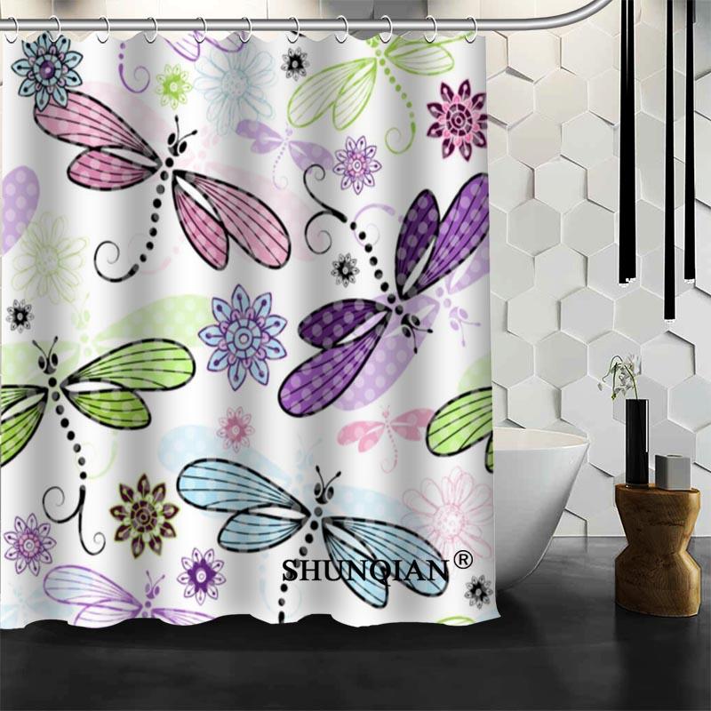 Custom Dragonfly Shower Curtain High Quality Bathroom