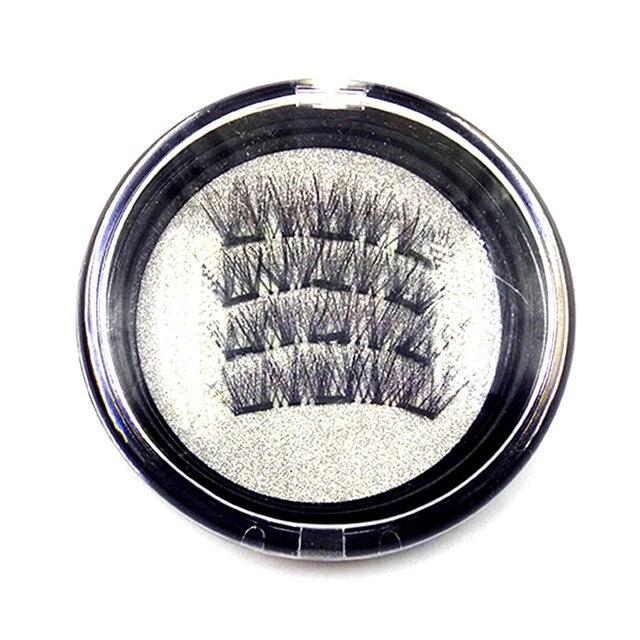 3 Aimant 3D Magnétique Cils Aimant Lashes Épais Réutilisables Faux Cils Main Non Colle Eye Lashes Maquillage Kit 4 pcs/paire 5