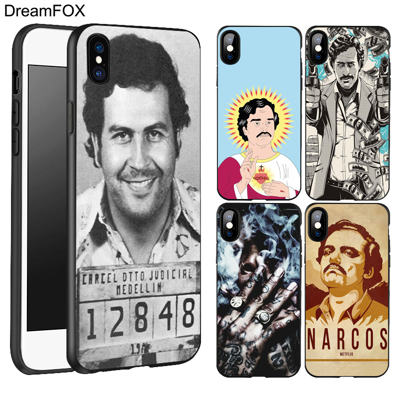 DREAMFOX L218 Pablo Escobar Black Silicone Case Cover For Apple iPhone XR XS Max X 8 7 6 6S Plus 5 5S 5G SE iPhone XR