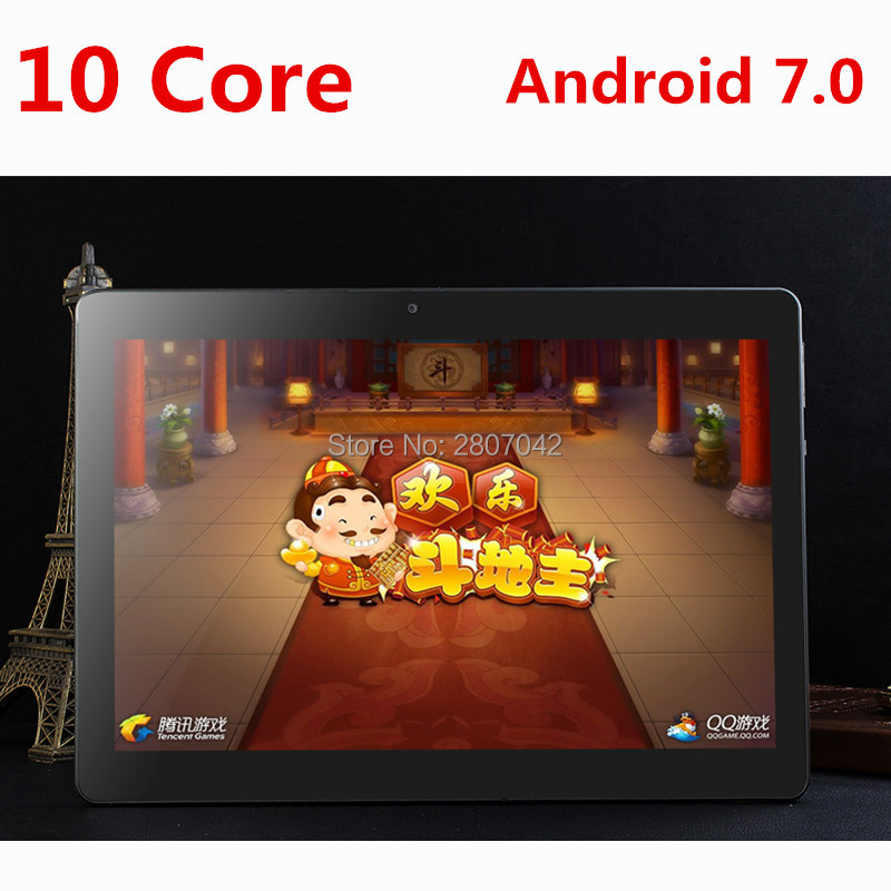 DHL free shipping 10 inch Tablet PC Deca Core 4GB RAM 128GB ROM Dual SIM Cards Android 7.0 GPS Tablet PC 10 10.1 +Gifts