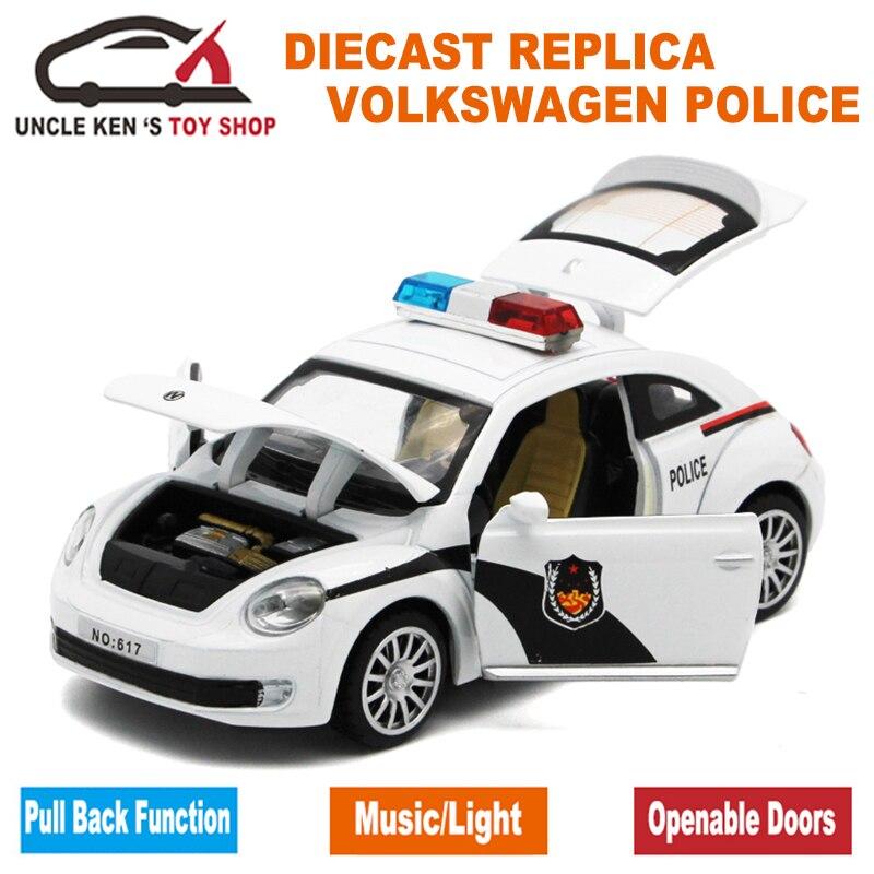 1:32 Skala 15CM Duljina Diecast Model Buba Policijski automobili - Dječja i igračka vozila - Foto 3