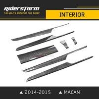 Riderstorm carbon fiber styling design interior accessories for porsche macan 2014 2015 rapair parts good fitment