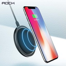 ROCK W4 Pro QI Wireless Charger For iPhone X 8 8 Plus 10W 9V Fast wireless charging Leather Pad For Samsung Galaxy S9 /Note 8