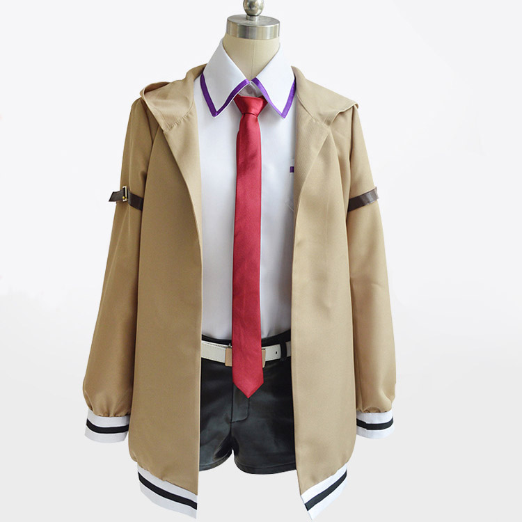 Steins Gate Cosplay Costume Japanese Anime Cosplay Makise Kurisu Cosplay Jacket Coat Outfit Suits Uniform 2
