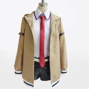 Image 3 - Steins gate przebranie na karnawał japońskie anime Cosplay Makise Kurisu Cosplay kurtka płaszcz garnitury jednolite