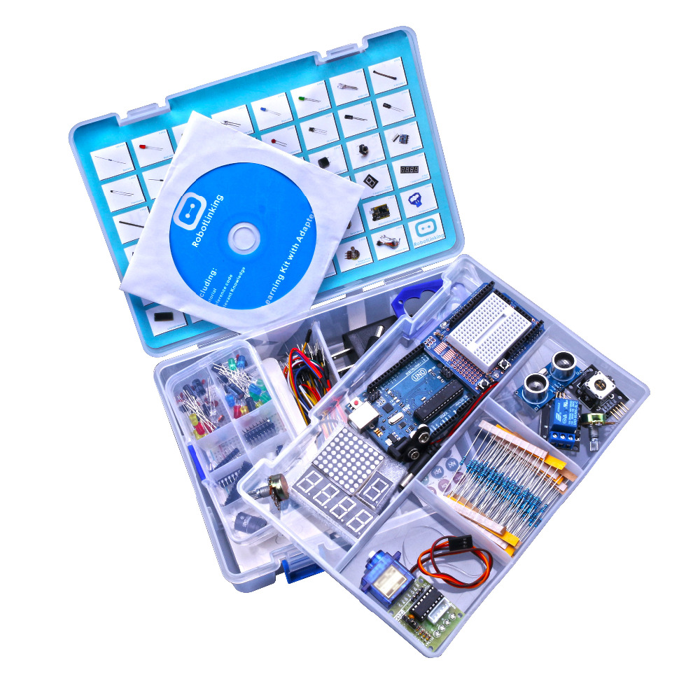 Atualizado versão avançada starter kit aprender suíte kit lcd 1602 para arduino kit diy