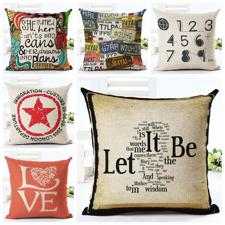 Aliexpresscom Buy vintage letters cushion cover love quote