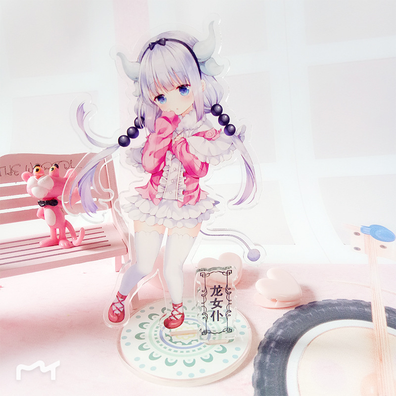 Anime  Miss Kobayashi's Dragon Maid Standing Plate Stand Model Home Desk Acrylic Stand Figure Model Plate Holder Cake Topper