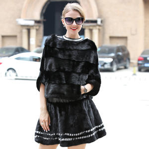 Mini Skirt Short Winter Luxury Sexy Autumn 100%Natural Spring Pleated Fur Mink-Fur Quality