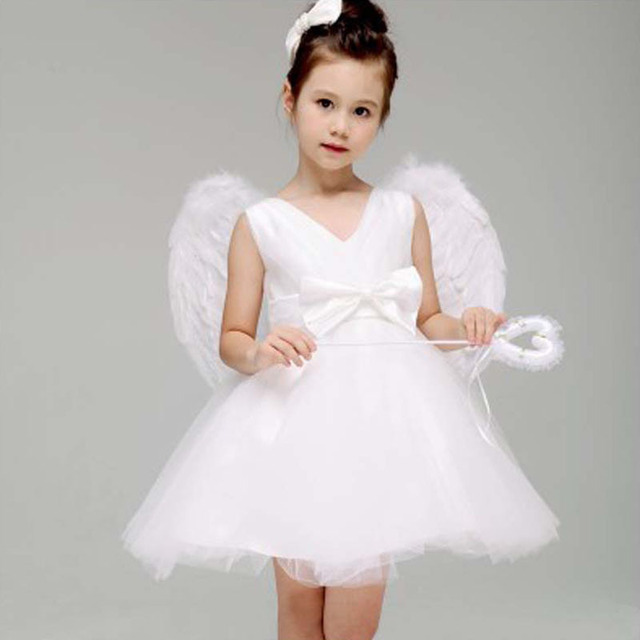 Wholesale Children Angel Costume Party Dance Halloween Including Dress Tire