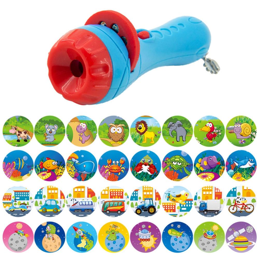 Slide Projector Kids Story Flashlight Toy Projector Lamp