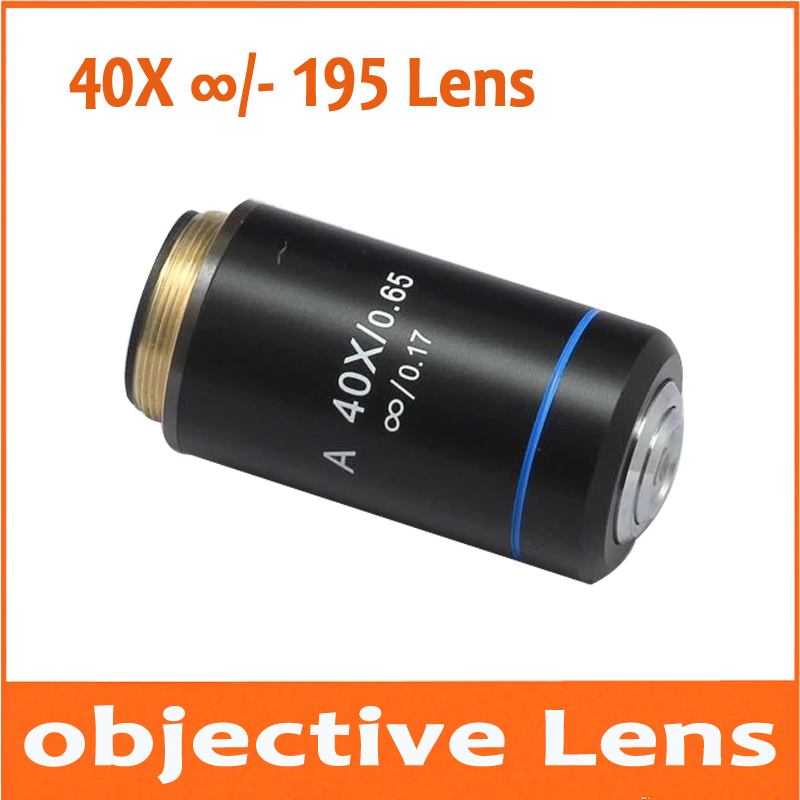 40X Infinity Biological Microscope Achromatic Plan Objective Lens Olympus Biomicroscope UIS2 infinity Optical System CX21 CX3 new metallurgical microscope 40x infinity plan achromatic long objective lens