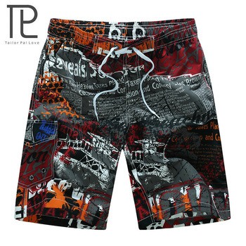 Men Surfing Beach Shorts Quick Dry Printing Board Shorts Swim Breathable