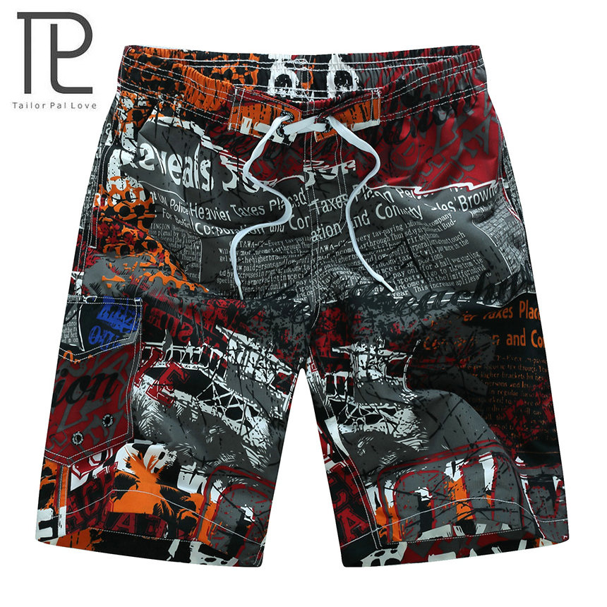 2018 Brand New Arrived Sommar Heta Män Surfa Beach Shorts Män Snabb Dry Printing Board Shorts Bad Andas Herrkläder