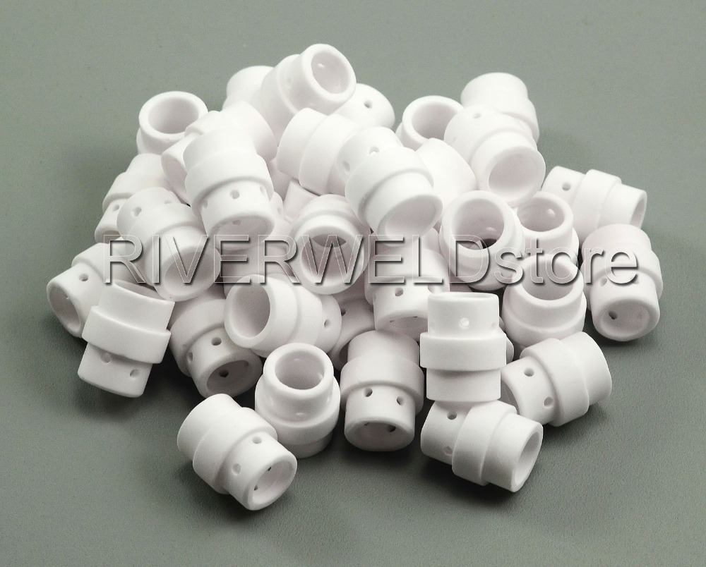 50pcs Gas Diffuser Swirl Baffle For MB 24 KD Fit MIG MAG Welding Torch Consumables Accessories