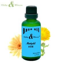 Vicky&winson calendula oil 50ml base Essential oils  skin care Marigold Oil Calendula Anti-inflammatory Moisturizing