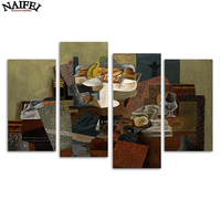 4 Pcs Set Pablo Picasso Still Life With Compote DIY Diamond Painting Full Square Daimond Embroidery