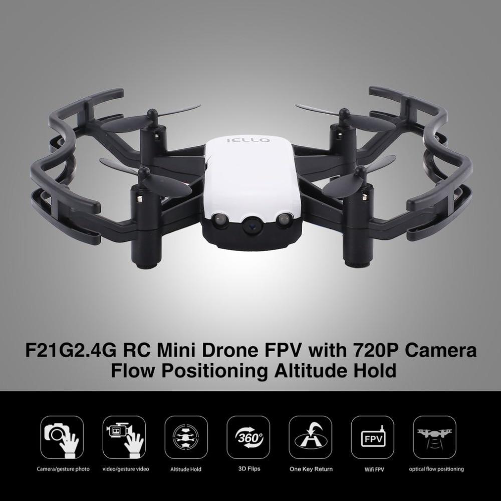 Rc Mini Quadcopter Drone Met 720 P Hd Wifi Fpv Camera Flow Positionering Gebaar Hoogte Houden Headless Modus Helicopter En Digestion Helping