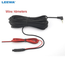 LEEWA 1pc 10meters 2 5mm TRRS Jack Connector To 4Pin Video Extension Cable For Truck Van