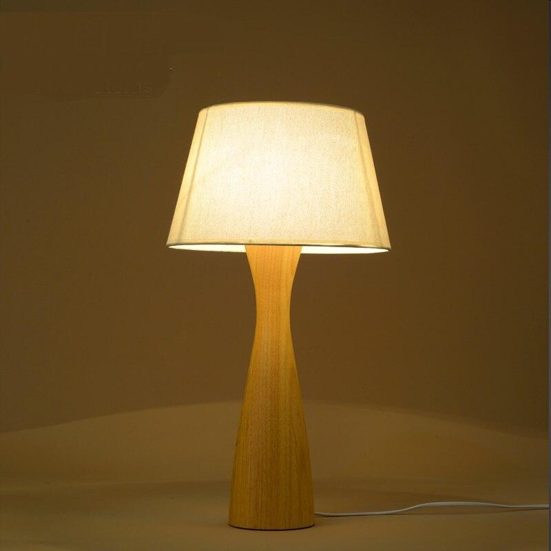Nordic отдельных твердой древесины настольная лампа гостиная спальня исследование прикроватные оригинальность деревянный стол лампы настол...