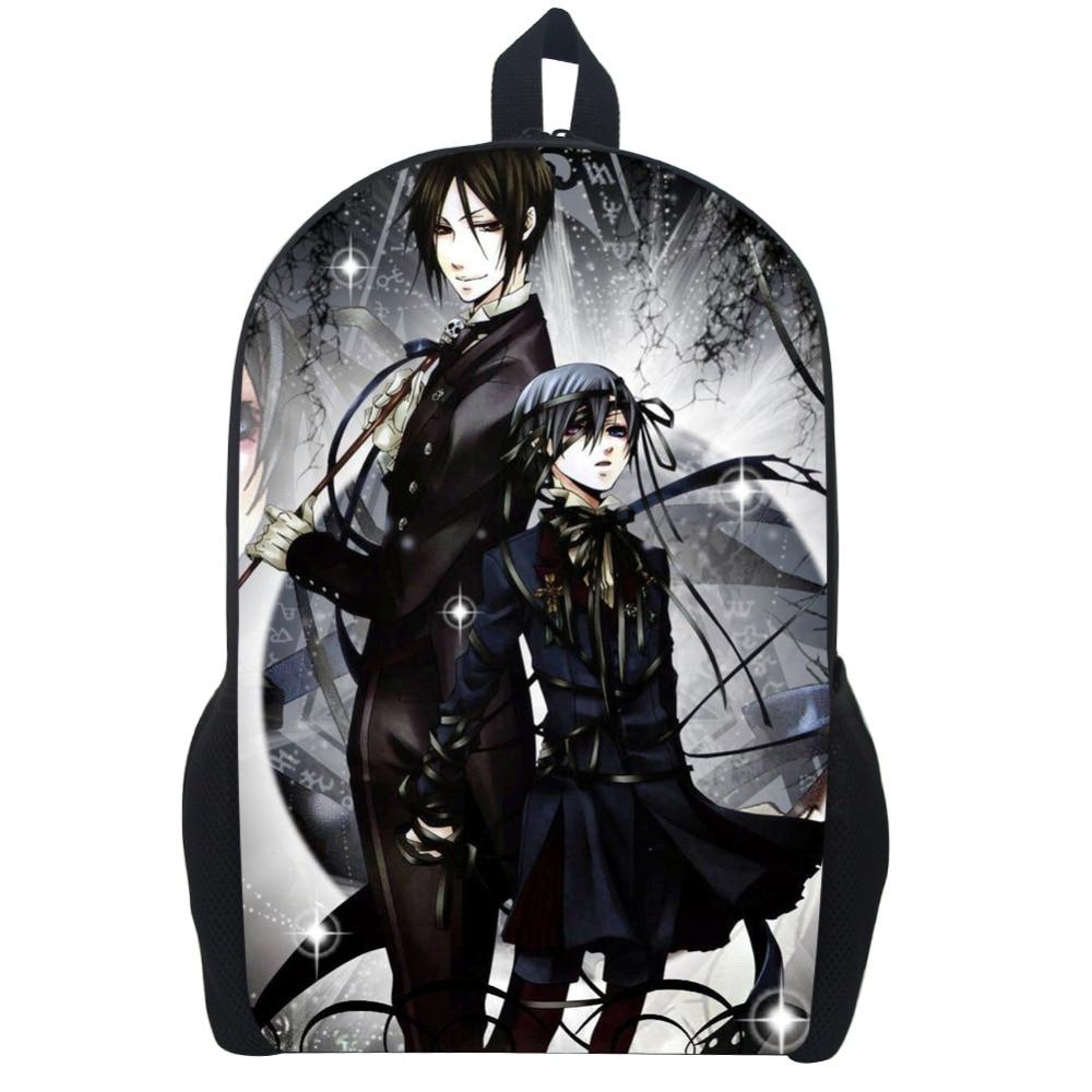 "17""japanese Anime Black Butler Backpack Children School Bags Cartoon Teenager Backpacks Backpacks Travel Backpack Student Bag"