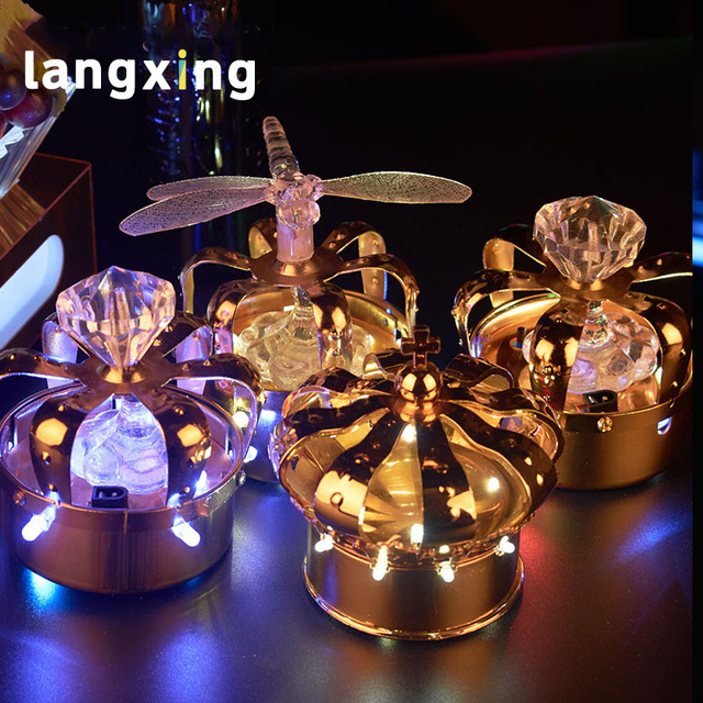 metal Led charging crown champagne head wine  stopper hat  decoration wine hat