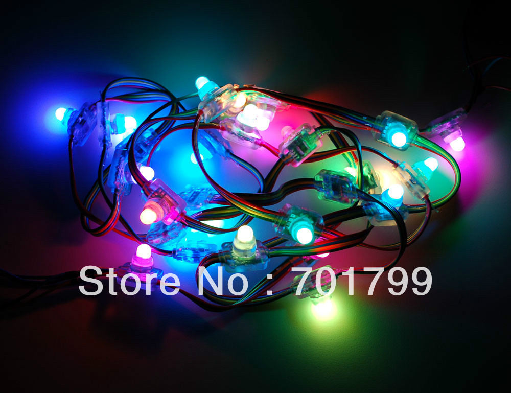 RGB full LED pixel module (WS 2801 IC) ;DC5V input,50pcs a string