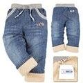 DK0048 Frete grátis cashmere grossa meninos inverno calças crianças calças moda infantil calças jeans atacado e varejo