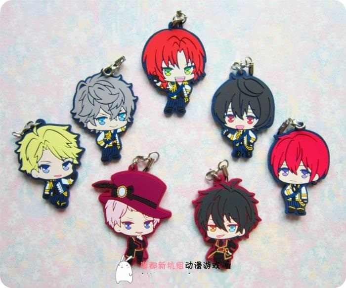 Ensemble Stars Anime Idol High School Game Team Trickstar ES 2nd Ver Japanese Rubber Keychain ensemble stars 2wink cospaly shoes anime boots custom made