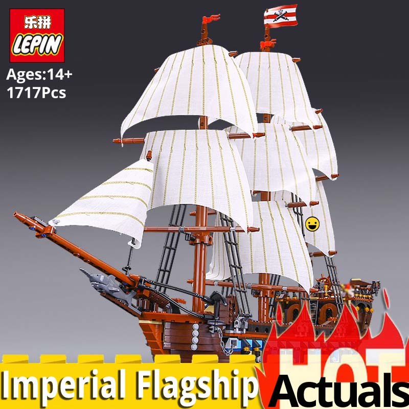 LEPIN 22001 Imperial Pirate Ship Model Building toys Blocks bricks Boat Compatible legoingly 10210 Educational Toys for Children red pirate ship blocks compatible legoingly war pirate king character action diy bricks cannon building blocks toys for children