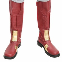 New The Flash Boots Season 2 Shoes COSplay Men's Costume Replica Props Fashion Sets