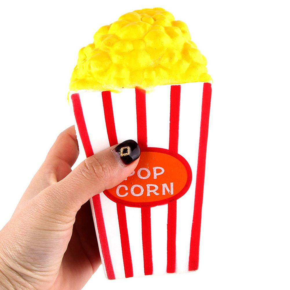 Cute Popcorn Squishy Jumbo Soft Slow Rising Squeeze Phone Straps Bag Key Pendant Charm Cream Scented Kid Toy Fun Gift