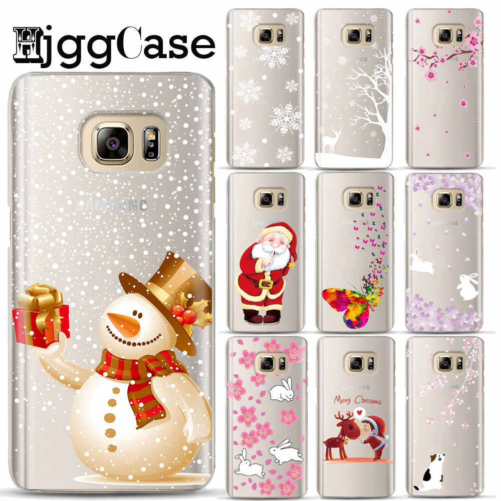 Merry Christmas Case for Samsung Galaxy S8 S9 A6 A8 Plus S6 S7 Edge J3 J5 J6 J7 A3 A5 A7 2018 2017 Silicon TPU Soft Phone Cases