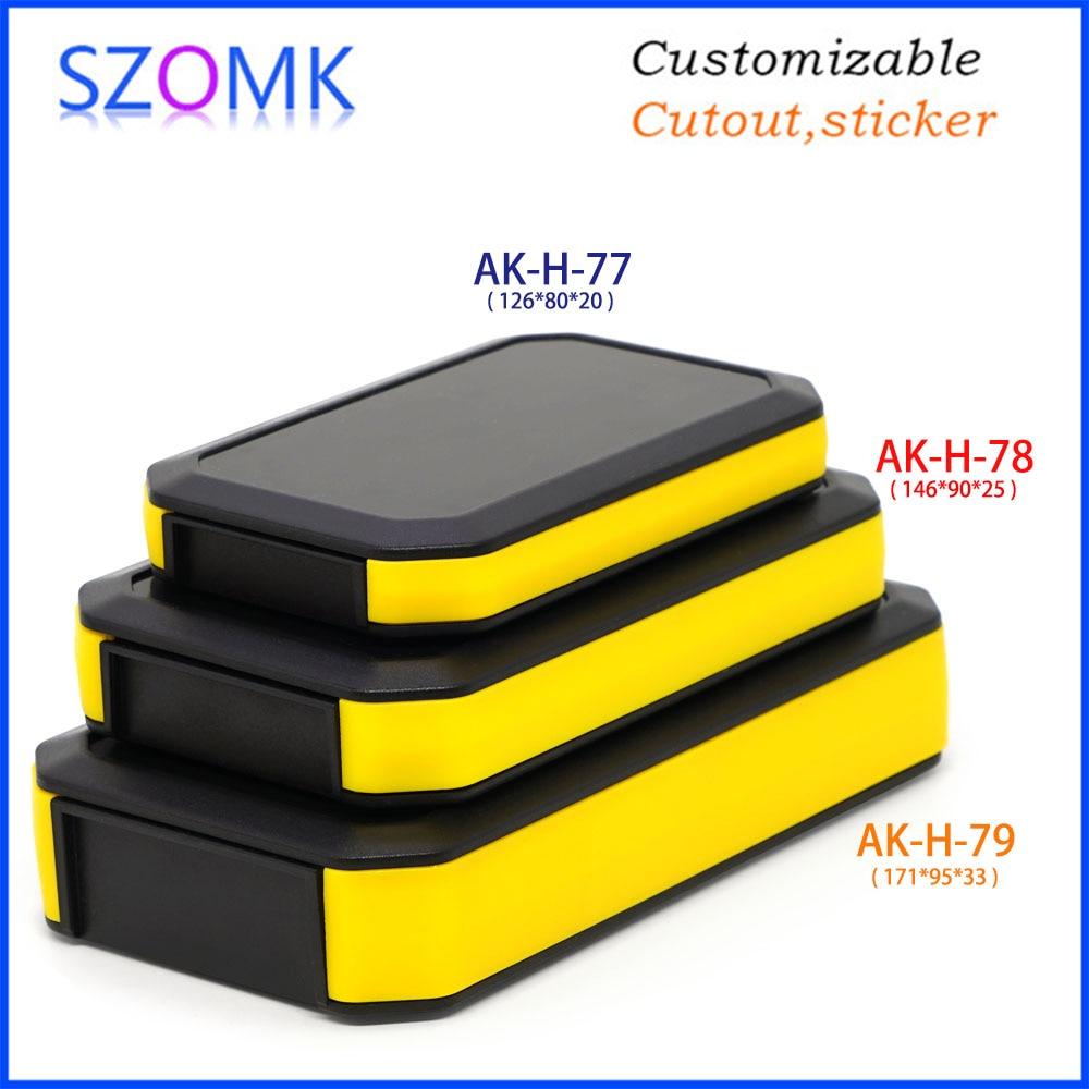 1 Piece 126*80*20mm Szomk New Design Plastic Enclosure For Electronics Plastic Box Handheld Instrument Housing Control Box