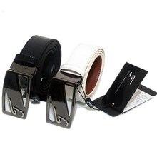 Поясной ceinture воловьей пряжка логотип натуральной ремни кожаный ремень гольф мужской